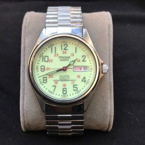 Pulsar Men's 38mm Railroad Quartz Watch